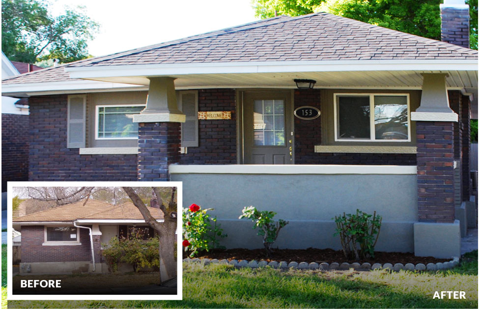 Before run down and after remodeled home